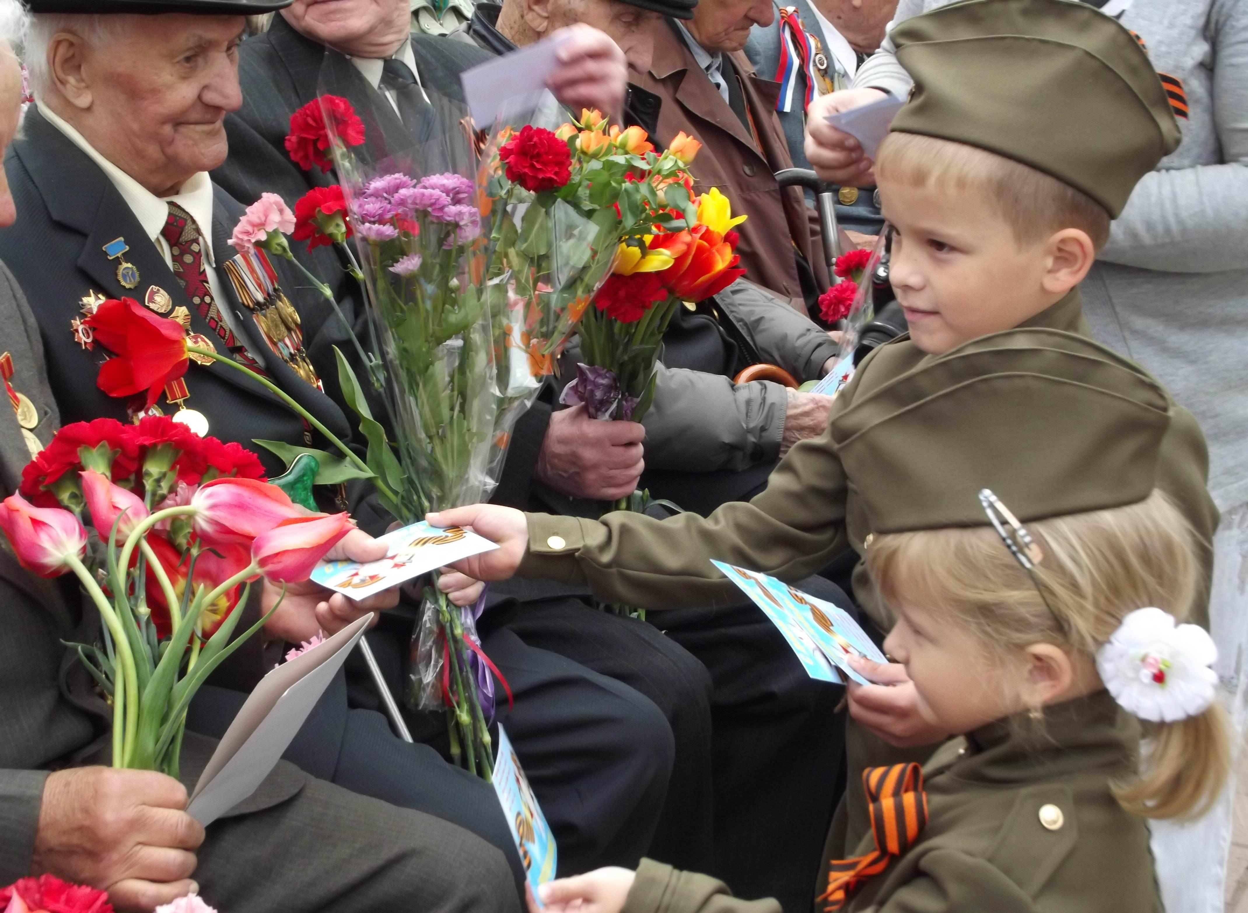 какие цветы дарить ветеранам
