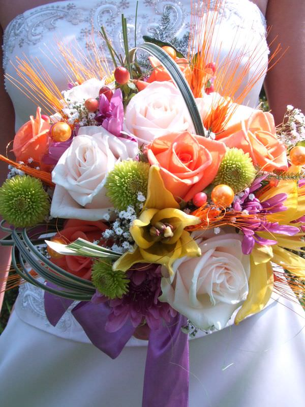 сборные свадебные букеты