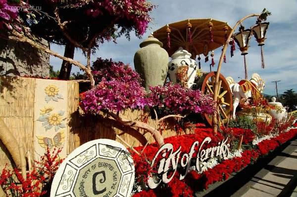 карнавал цветов в США