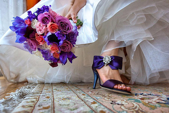 букет невесты в холодных тонах