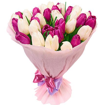 39 delicate tulips - delivery in Ukraine