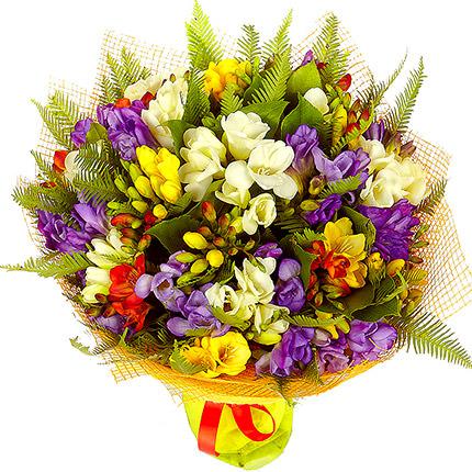 49 разноцветных фрезий - доставка по Украине