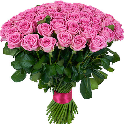101 pink roses - delivery in Ukraine