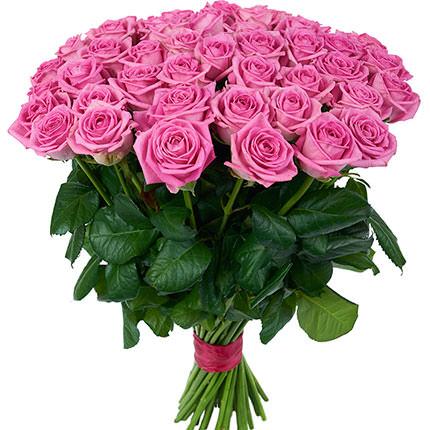 51 рожева троянда - доставка по Україні