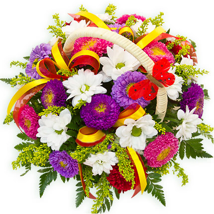 "Basket ""Mix of asters"" - delivery in Ukraine"