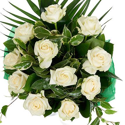11 білих троянд - замовити з доставкою