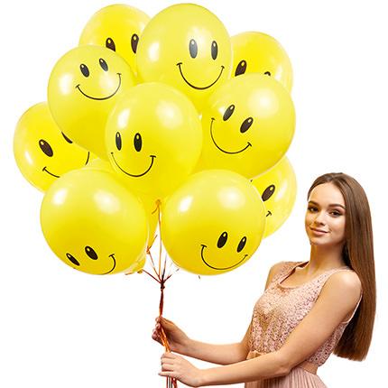 """Коллекция шариков """"Смайлики"""" - 3 шарика - заказать с доставкой"""