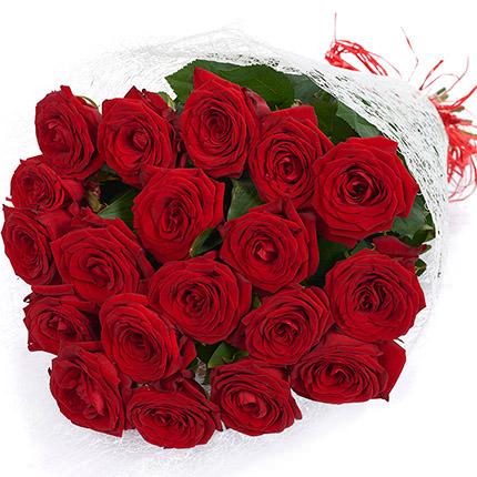 19 алых роз - доставка по Украине