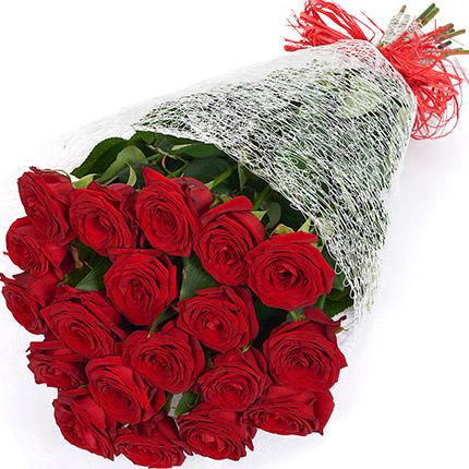 19 червоних троянд - замовити з доставкою