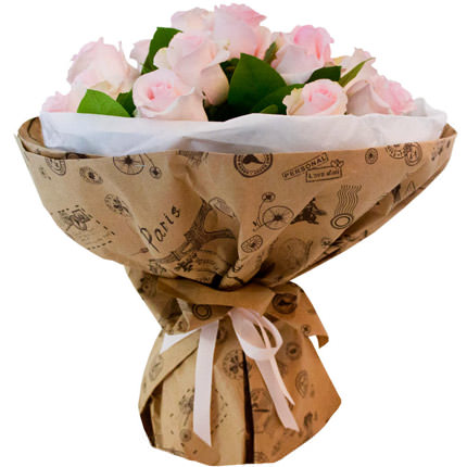 Bouquet of pink roses - delivery in Ukraine