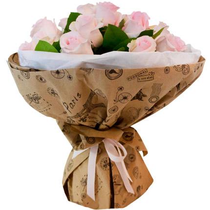 Букет рожевих троянд - доставка по Україні