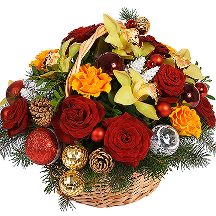 "Basket ""New Year fireworks"" - delivery in Ukraine"