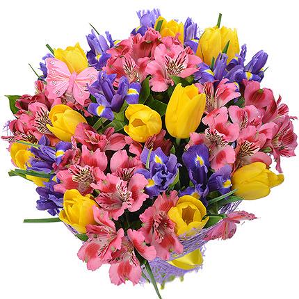 """Романтичний букет """"Фіолетовий серпанок"""" - замовити з доставкою"""