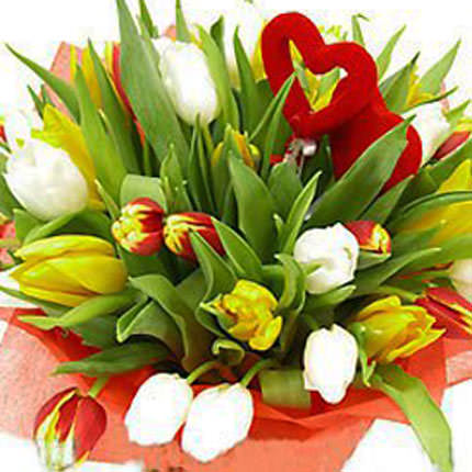 "Bouquet ""Two Hearts"" - delivery in Ukraine"