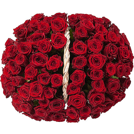 "Basket ""101 scarlet roses"" - delivery in Ukraine"