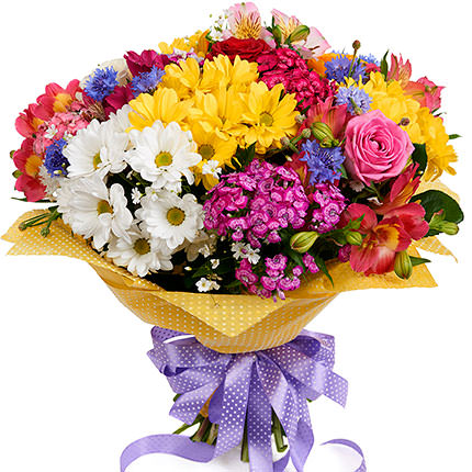 "Bright bouquet ""Hawaiian Flowers"" - delivery in Ukraine"