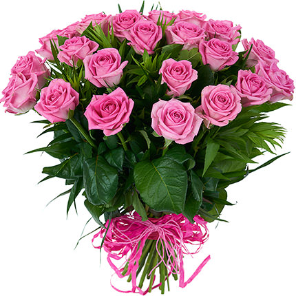 25 pink roses - delivery in Ukraine