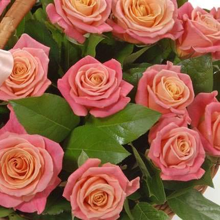 """Basket """"25 pink roses"""" - delivery in Ukraine"""
