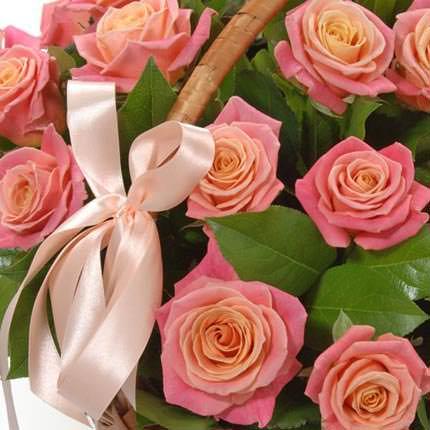 """Корзина """"25 розовых роз"""" - заказать с доставкой"""