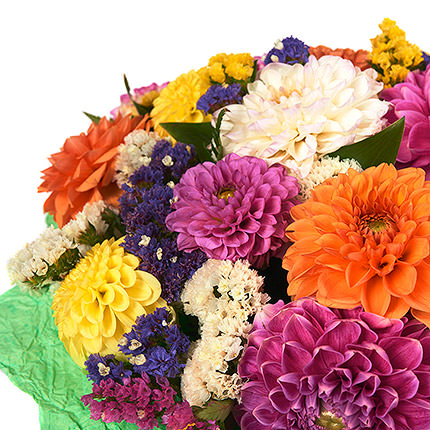 25 multicolored dahlias - order with delivery