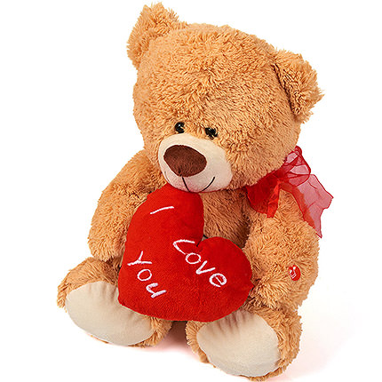 Cute Teddy Bear (with heart) - order with delivery