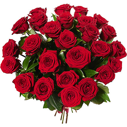 25 red roses + Nutella - delivery in Ukraine