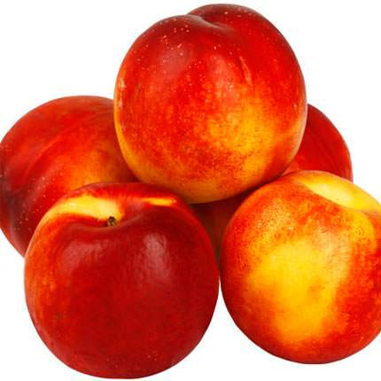 11 red roses + nectarines - order with delivery