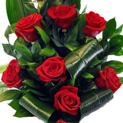 9 красных роз - доставка по Украине