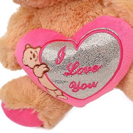 Мишка коричневый (с розовым сердцем) - заказать с доставкой