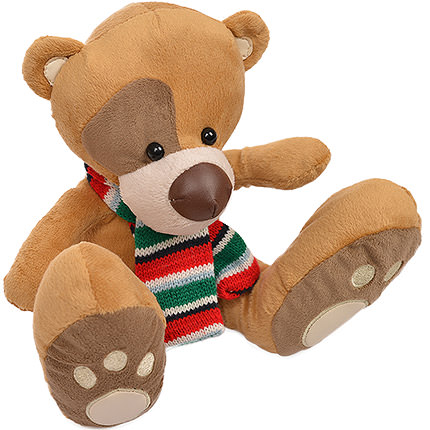 Bear with scarf - order with delivery