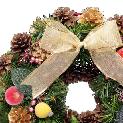"Christmas wreath ""For good luck!"" - order with delivery"