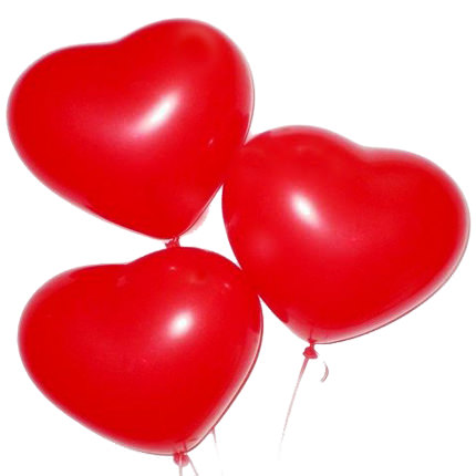 7 red roses with balloons - order with delivery