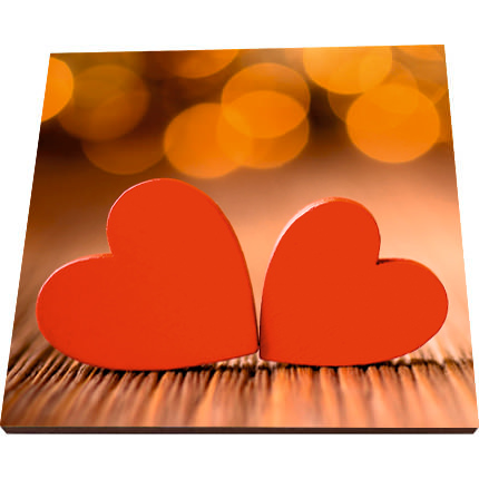 """Postcard-magnet """"With love!"""" - order with delivery"""