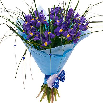 11 фиолетовых ирисов - доставка по Украине