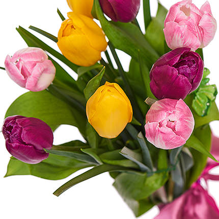 11 different color tulips - delivery in Ukraine