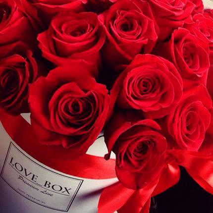 """Цветы в коробке """"I Love You"""" - доставка по Украине"""