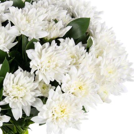 11 веток белой хризантемы - доставка по Украине