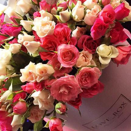 """Цветы в коробке """"Для моей милой"""" - доставка по Украине"""
