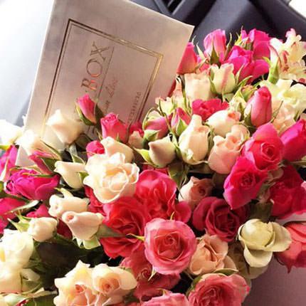 """Цветы в коробке """"Для моей милой"""" - заказать с доставкой"""
