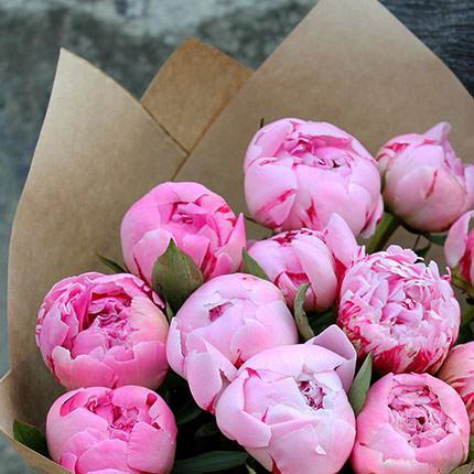 15 delicate peonies - delivery in Ukraine