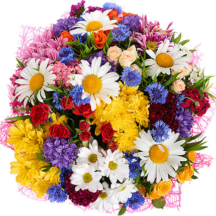 "Bouquet ""Summer miracle"" with balloons - order with delivery"