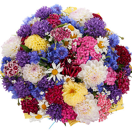 "Bouquet ""Wildflowers"" with balloons - order with delivery"