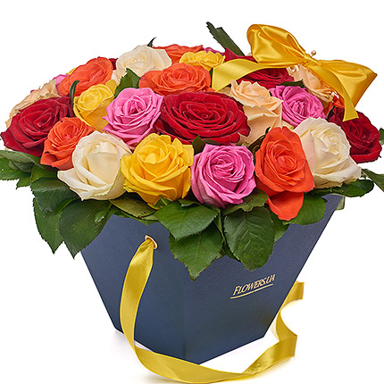 "Flowers in a box ""Summer exclusive"" - order with delivery"