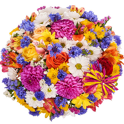 "Flowers in a box ""Summer romance"" - delivery in Ukraine"