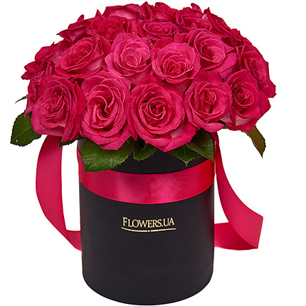 "Flowers in a box ""Glamour"" - order with delivery"