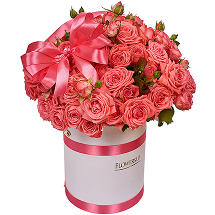 "Flowers in a box ""Beguin"" - order with delivery"