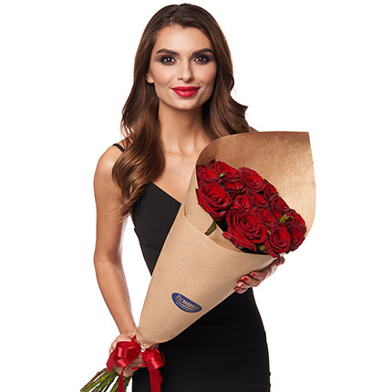 15 red roses - order with delivery