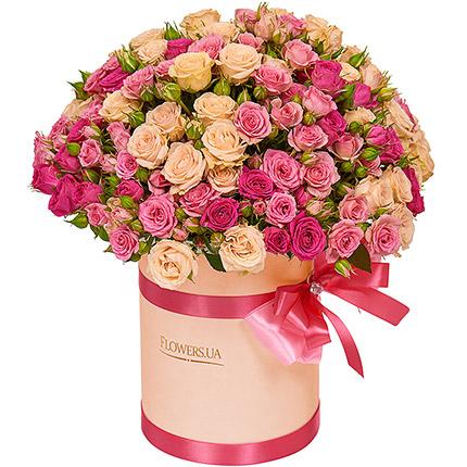 """Цветы в коробке """"Для моей милой!"""" - заказать с доставкой"""