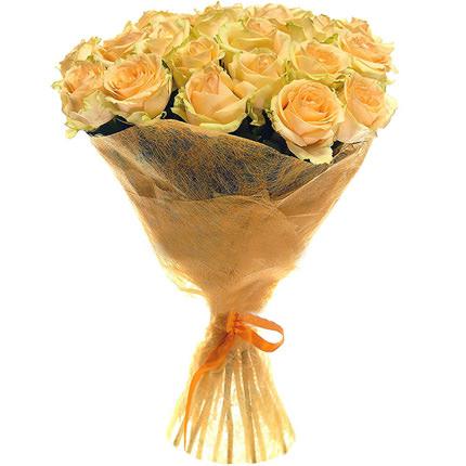 21 кремова троянда - доставка по Україні