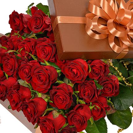 """Цветы в коробке """"25 красных роз!"""" - заказать с доставкой"""